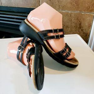 Haflinger Quadruple Strap Slide On Sandals